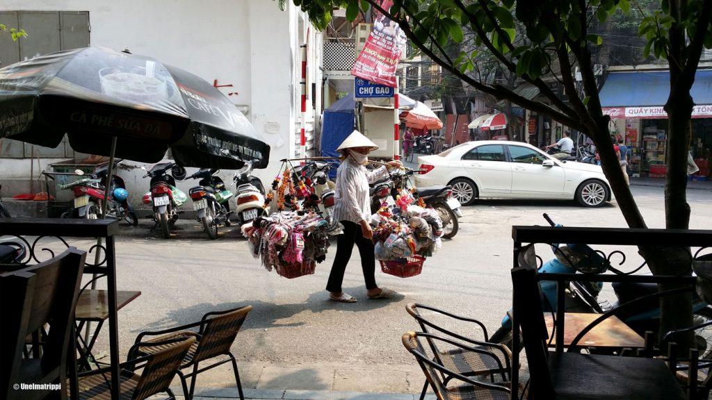 Paikallinen kauppias Hanoi Old Quarter