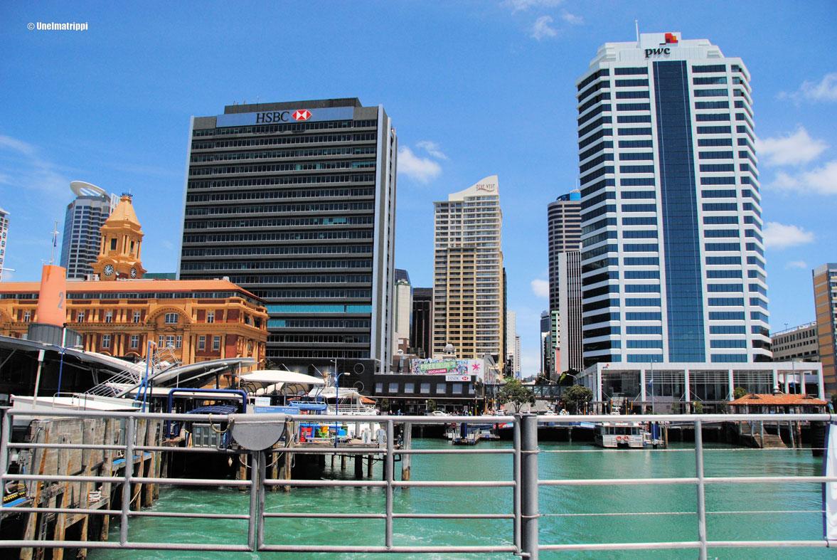 Aucklandin katunäkymää, Uusi-Seelanti