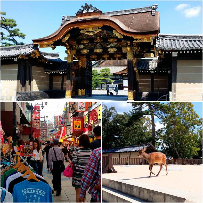 Kioto ja Nara -kollaasi