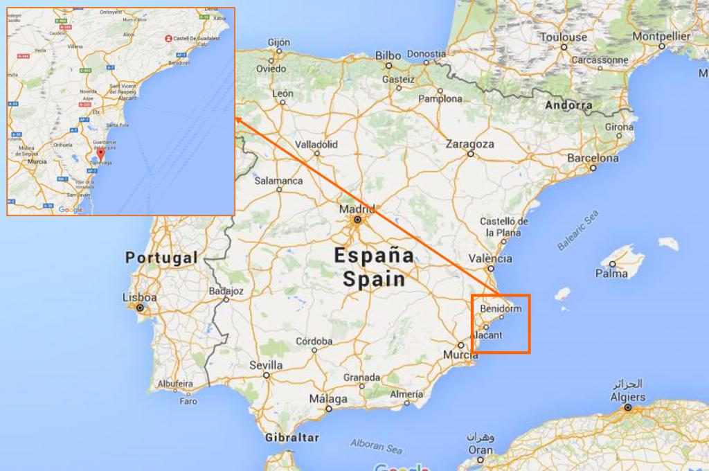 Kartta Torrevieja Guadalest