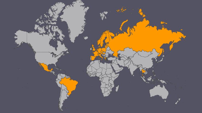 Kartta ennen matkaa maailman ympäri