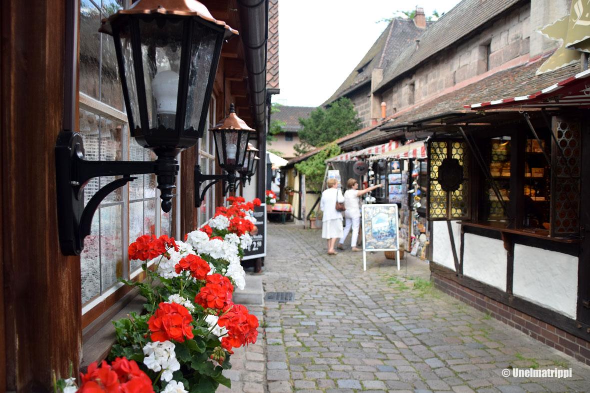 Kaupunkilomalla Nürnbergissä
