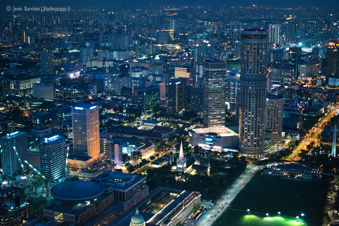 Näköala 1-Altitude-ulkoilmabaarista, Singapore
