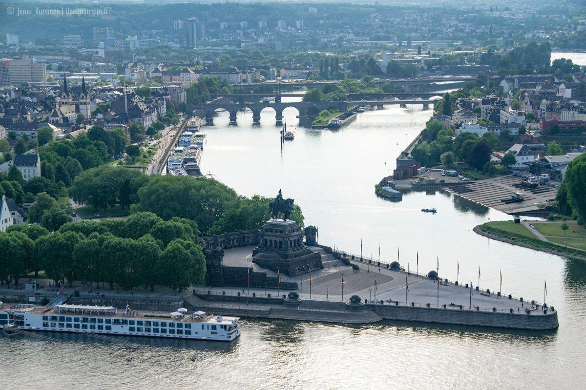 Reinin ja Moselin liittymässä: Koblenz