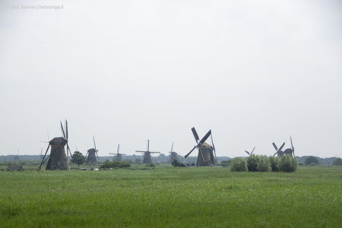 Kinderdijk: hollantilainen tuulimyllymaisema ja Unesco-kohde