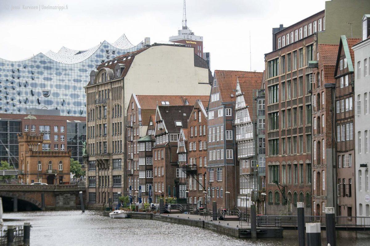 Hampurin arkkitehtuuri on täynnä kontrasteja