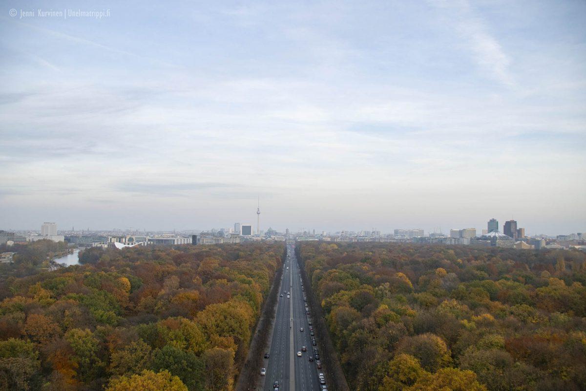 Näköala Siegessäulesta eli Voitonpylväästä Berliinissä