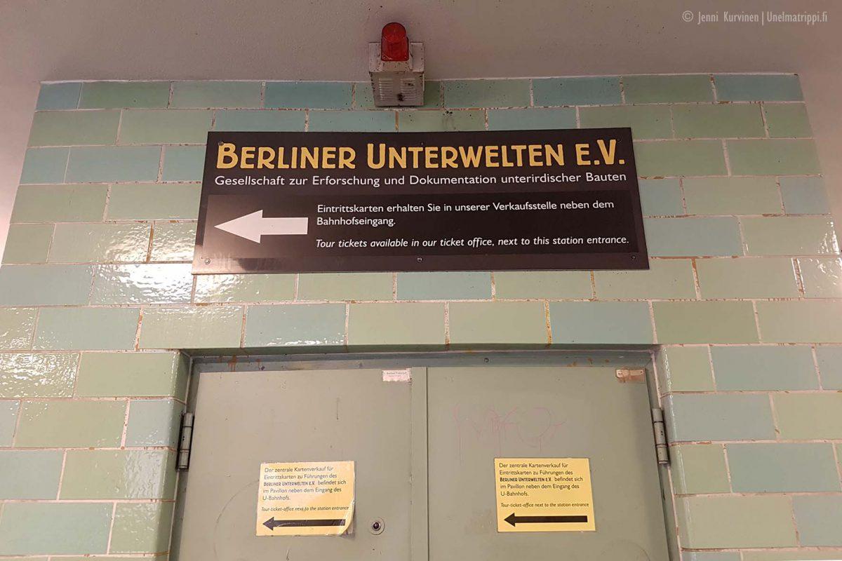 Berliner Unterweltenin kierros alkoi Gesundbrunnen-asemalta