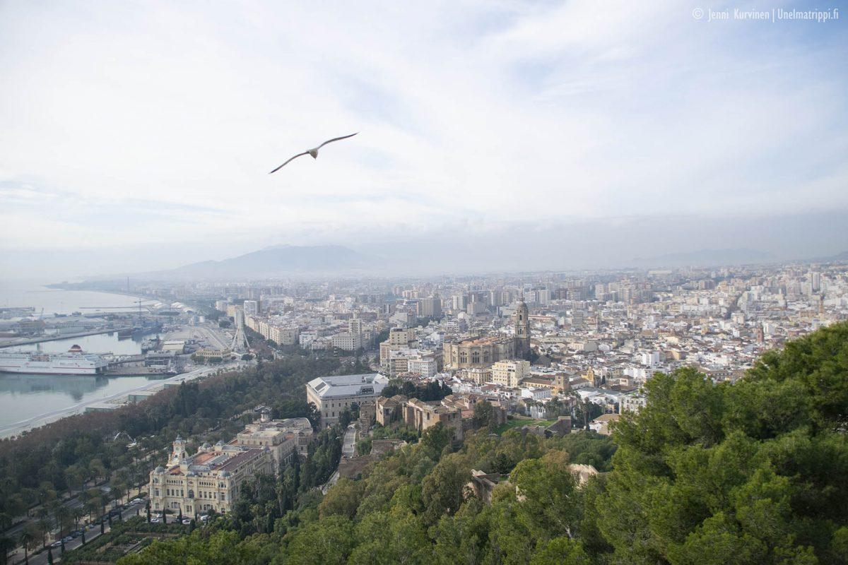 Näköalapaikka Málagassa: Gibralfaron linnoitus