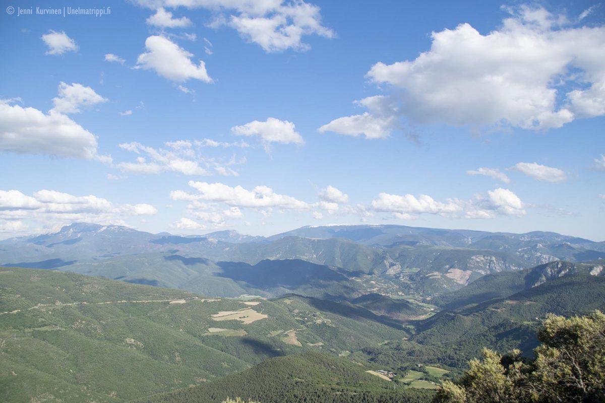Vuoristomaisema matkalla San Sebastiánista Andorraan