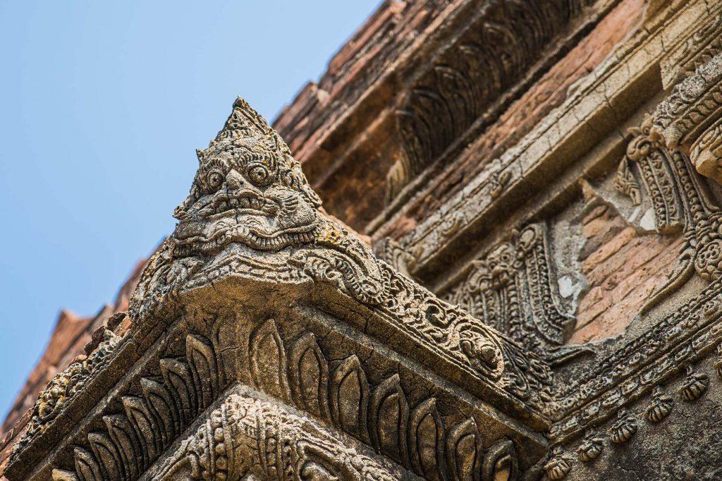 Temppelin koristeluja Baganissa