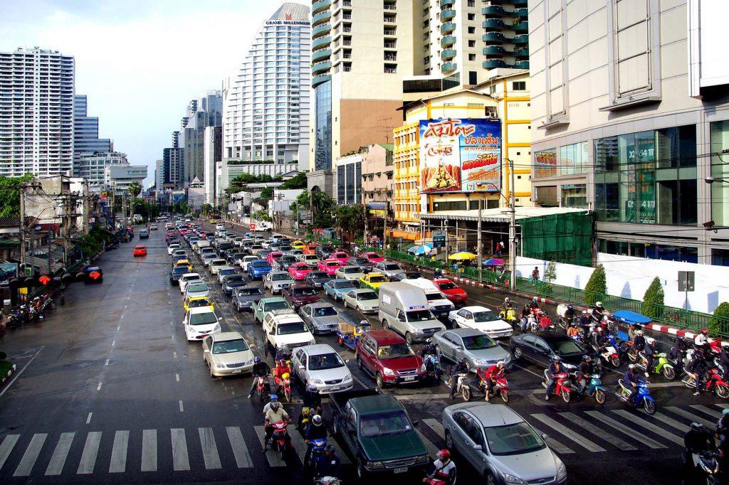 Bangkokin liikennettä